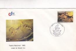 1993 FDC COVER COSTA RICA - TEATRO NACIONAL - BLEUP - Costa Rica