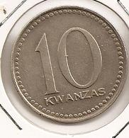 ANGOLA 10 KWANZAS  RARE 5 - Angola