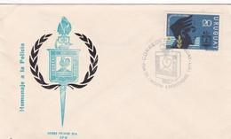 1971 COVER FDC URUGUAY - HOMENAJE A LA POLICIA, LIBERTAD EN EL ORDEN - BLEUP - Police - Gendarmerie