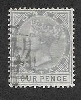 Tobago, Scott 2018 # 20, Issued 1882, Single, Used, Cat $ 4.25 - Trinidad & Tobago (...-1961)