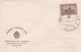 1949 COVER FDC URUGUAY - TIMBRE CENTENARIO UNIVERSIDAD 1849-1949 - BLEUP - Police - Gendarmerie