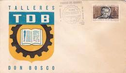 1968 COVER FDC URUGUAY - 70 ANIVERSARIO TALLERES DON BOSCO - BLEUP - Uruguay