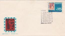 1970 COVER FDC URUGUAY - URUEXPO'70 EXPOSICION FILATELICA NACIONAL - BLEUP - Uruguay