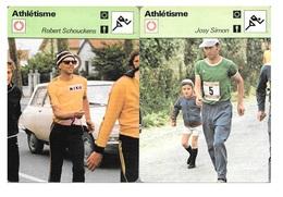 GF1021 - FICHES RENCONTRE - ATHLETISME - MARCHE - PARIS STRASBOURG RINCHARD MOULINET SCHOUKENS  SIMON GODARD - Athlétisme