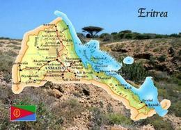 Eritrea Country Map New Postcard Landkarte AK - Eritrea
