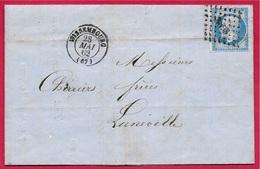 1862 Lettre Commerciale 67 WISSEMBOURG (Wessenburg) Fabrique De Produits Chimiques DREYFUS Frères (Allumettes) - Marcofilia (sobres)