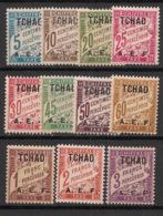 Tchad - 1928 - Taxe TT N°Yv. 1 à 11 - Série Complète - Neuf Luxe ** / MNH / Postfrisch - Neufs
