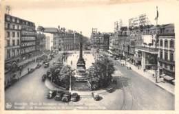 BRUXELLES - Place De Brouckère Vers Le Boulevard Anspach - Avenues, Boulevards