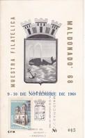 1968 CARD URUGUAY - BICENTENARIO MALDONADO, MUESTRA FILATELICA - BLEUP - Uruguay