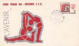 1969 COVER FDC URUGUAY - L'AVENIR - BLEUP - Uruguay