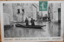 CRUE DE LA LOIRE 21 OCTOBRE 1907 RUE DES CHARRETIERS ORLEANS - Inondations