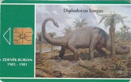 REPUBLICA CHECA. FAUNA - Dinosaur - Diplodocus. C41A, 32/01.94. (134) - Tarjetas Telefónicas