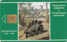 REPUBLICA CHECA. FAUNA - Dinosaur - Stegosaurus. C32Ba, 22/11.93. (135) - Tarjetas Telefónicas
