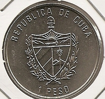 CUBA 1 PESO COLOR MINTAGE 10 000 RARE Caribbean Faun UNC - Cuba