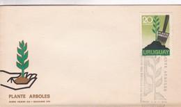 1973 COVER FDC URUGUAY - PLANTE ARBOLES - BLEUP - Protection De L'environnement & Climat