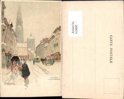 619800,Lithographie Henri Cassiers Anvers Antwerpen Cathedrale - Belgien