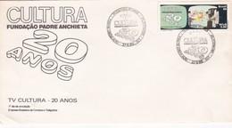 1989 COVER FDC BRESIL BRAZIL - CULTURA. FUNDAÇAO PADRE ANCHIETA 20 ANOS - BLEUP - Autres