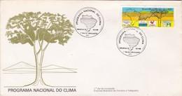 1985 COVER FDC BRESIL BRAZIL - PROGRAMA NACIONAL DO CLIMA - BLEUP - Protection De L'environnement & Climat