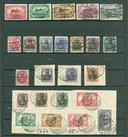 Germany. Allenstein 1920 Lot Of & On Paper. Cancel. Black Overprint. 2 Scan. - Germany