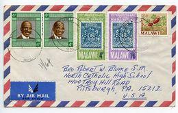 Malawi 1960's Airmail Cover Mzuzu To Pittsburgh PA, Scott 44 54 56 58 - Malawi (1964-...)