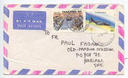 Tanzania 1996 Airmail Cover To Bariadi - Old Maswa Mission, Scott 537 & 1160 - Tansania (1964-...)