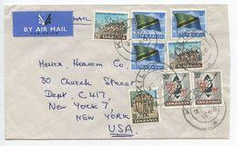 Tanzania 1966 Airmail Cover Kilosa To New York, Scott 6-9 - Tanzania (1964-...)