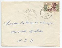 Congo 1962 Cover Pointe-Noire To Chicago IL, Scott 89 - Republic Of Congo (1960-64)