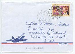 Congo 1997 Airmail Cover Brazzaville To Richmond VA, Scott 935 Amadeus Mozart - Congo - Brazzaville