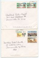 Nigeria 2000's 2 Covers To Duncanville Texas, Mix Of Stamps - Nigeria (1961-...)