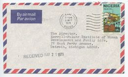 Nigeria 1979 Airmail Cover Kano To Detroit MI, Scott 300 Palm Oil - Nigeria (1961-...)