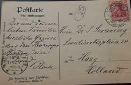 O) 1908 GERMANY, GERMANIA 10pf,THE WARTBURG OF SOUTH WEST, POSTAL CARD, XF - Germany