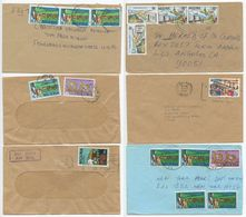 Nigeria 1970's-80's 6 Covers To U.S., Mix Of Stamps & Postmarks - Nigeria (1961-...)