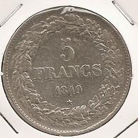 BELGIQUE BELGIUM 5 FRANCS 1849 RARE 25.0000 G., 0.9000 Silver PLATA ARGENT - 1831-1865: Léopold I
