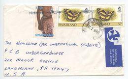 Swaziland 1998 Airmail Cover Hlatikulu To Langhorne PA, Scott 609 & 674 - Swaziland (1968-...)