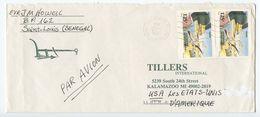 Senegal 1992 Airmail Cover Dakar To Kalamazoo MI, Scott 977 Djoudj National Park - Senegal (1960-...)