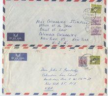 Sudan 1962-63 2 Airmail Covers Khartoum To New York, Scott 149 152 153 - Sudan (1954-...)