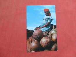 Young Calabash Vendor St Marc Road West Indies  Haiti  Ref 3428 - Haiti