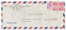 Philippines 1979 Registered Airmail Cover Manila To Kalamazoo MI, Scott 1204 & 1268 - Philippines