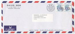 Hong Kong 1990's Airmail Cover Kowloon To Farm Hills MI, Scott 864 Victoria Harbour - 1997-... Chinese Admnistrative Region