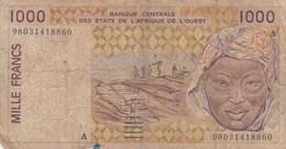 Etats De L'Afrique De L'Ouest - Billet De 1000 Francs - Non Daté - Lettre A Côte D'Ivoire - États D'Afrique De L'Ouest