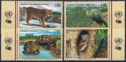 UNO GENF 2001 Mi-Nr. 409/12 Gefährdete Arten ** MNH - Genf - Büro Der Vereinten Nationen