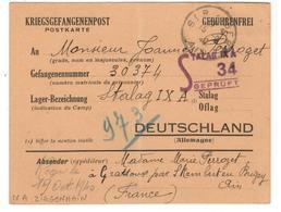 18801 - STALAG IXA ZIEGENHEIM - Marcophilie (Lettres)