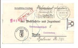MaSt Berlin Verwende Heimische Treibstoffe. Streife. Nachgebühr. Bezahlt. 1937 - Covers & Documents
