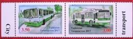 Tajikistan  2017  Sity  Transport   2 V   MNH - Tadschikistan