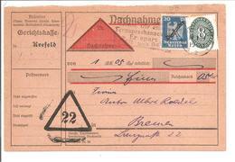 Nachnahme Dienst. Krefeld 1918 - Dienstpost