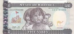 Erythrée - Billet De 5 Nakfa - 24 Mai 1997 - Neuf - Eritrea