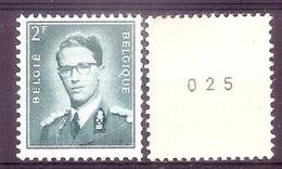 BELGIE  Boudewijn Bril * R 37  Met NR * ROLZEGEL * Postfris Xx - Coil Stamps