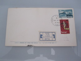 1967 POO FIRST DAY POST OFFICE OPENING MILITARY GOVERNMENT YABAD JORDAN 6 DAYS WAR COVER ISRAEL CACHET - Israel
