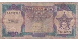 Ghana - Billet De 500 Cedis - 20 Avril 1989 - Ghana
