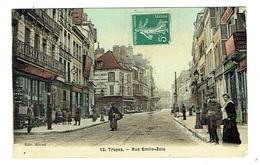AUBE 10 TROYES Rue Emile Zola Belle Carte Tramée - Troyes